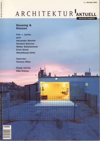 """""""Living in spe"""" – architektur.aktuell 2000-05. Von Gabriele Kaiser – pool Architektur"""